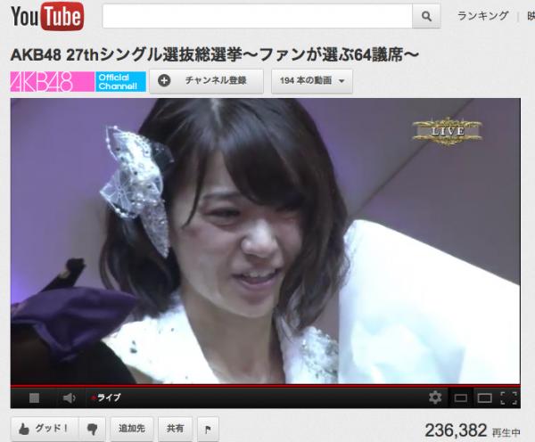 AKB48 総選挙 YouTube