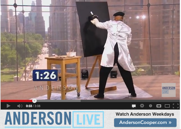 'Speed Painter' Takes Stage in 'Anderson's Viewers Got Talent'