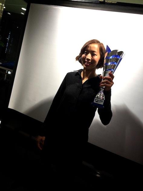 野口啓代 2014年ボルダリングワールドカップ総合優勝 記念パーティー