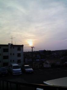 夕日 日没 日の入 太陽