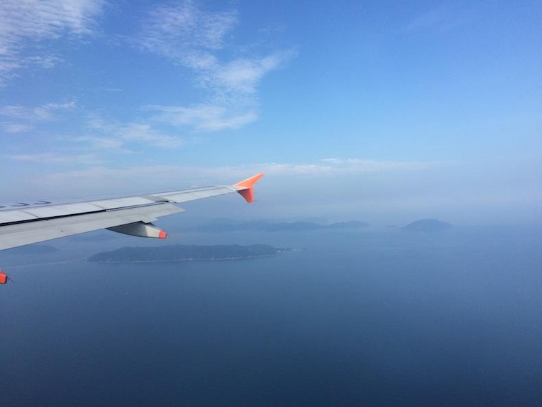 フライト 飛行機 景色