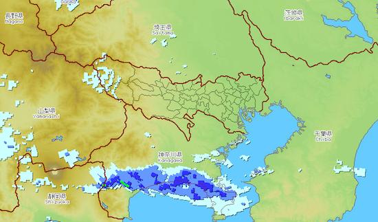 ゲリラ豪雨 分布図