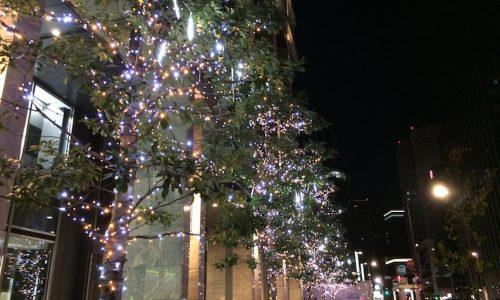 クリスマスイルミネーション 日本橋